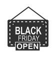 black friday open shop door board special season vector image vector image
