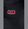 black friday sale banner with modern abstract vector image vector image