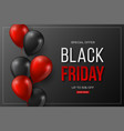 black friday sale typographic design 3d stylized vector image vector image