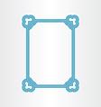 border blue text frame vector image vector image