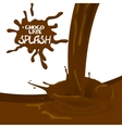 Brown cocoa chocolate cream vector image