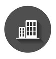 building icon business with long shadow vector image vector image