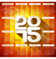 Calendar 2015 with long shadow vector image vector image