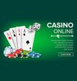 casino poker design casino theme fortune vector image vector image