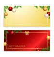 christmas and new year gift certificate voucher vector image vector image