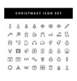 christmas icon set with black color outline style vector image