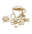 coffee cup sketch vector image