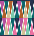 colourful diamond and triangle zig zag vector image vector image
