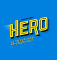 comics super hero style font vector image vector image