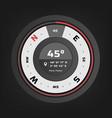 compass digital hud navigate vector image vector image