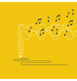 Creative writing and storytelling music creation vector image vector image