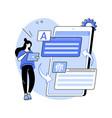 digital translator abstract concept vector image vector image