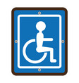 disabled zone traffic signal vector image vector image