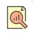 document and business graph monitoring icon vector image