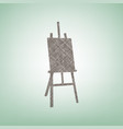 easel sign brown flax icon on green vector image