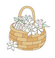 easter bouquet great religious holy holiday vector image vector image