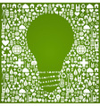 Eco green world ideas background vector image