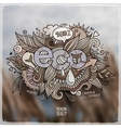 eco hand lettering and doodles elements vector image