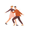 faceless pair dancing lindy hop or boogie woogie vector image vector image