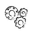 figure gear industry engineering process vector image vector image