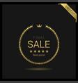 final sale golden wreath icon vector image vector image