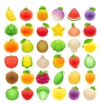 Fruits and Vegetables Big Collection vector image