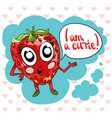 hand drawing cute sweet strawberry vector image vector image