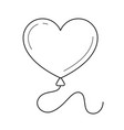 heart balloon line icon vector image