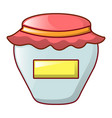 honey jar icon cartoon style vector image