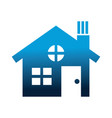 house building silhouette icon vector image