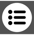 Items flat black and white colors round button vector image vector image