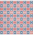 korean pattern background with korean flag symbol vector image