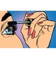 Makeup Eyeliner Make-up Applying closeup