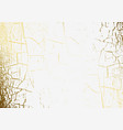marble texture cracked golden foil patina vector image vector image