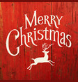 merry christmas typography with deer silhouette vector image vector image