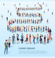 people waiting in line vector image