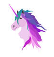 pink unicorn vector image