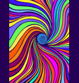 psychedelic colorful waves fantastic art vector image vector image