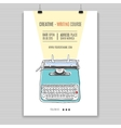 retro typewriter poster vector image vector image