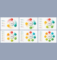 rotating circle chart templates infographic vector image vector image