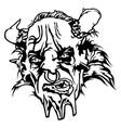 satan head vector image