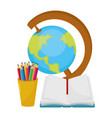 school world map cartoon vector image