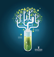 Science concept design template vector image vector image