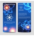 Scientific flyer template with atom model vector image vector image
