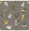 Seamless pattern with voodoo symbols vector image vector image