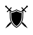 shield and swords icon vector image vector image
