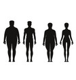 Silhouette of fat and thin peoples weight loss of