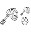 Smiling happy electrical egg beater vector image