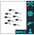 sperm icon flat vector image vector image