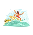 Surfer guy in sunglass vector image vector image